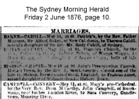 Campbell - Convery - John and Sara - Marriage Notice