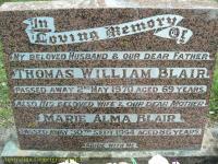 Blair - Thomas William and Marie Alma