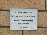 Wright - Thelma Florence