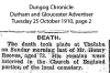 Reeves - Henry - Death and funeral notice