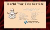 "Arthur Wenworth ""Bill"" FULLAGAR - War service record."