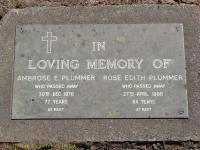 Plummer - Ambrose E and Rose Edith