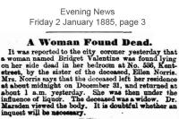 Valentine - Bridget - Found deceased