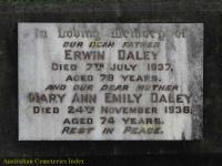 Daley - Erwin and Mary Ann Emily