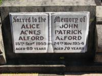 Alford - Alice Agnes and John Patrick