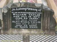 Taylor - William and Alice Maria