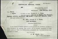SLOAN Edward Thomas - Military Record