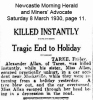 Allan - Alexander - Motor accident.