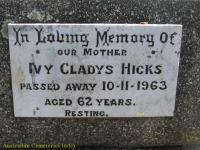 Hicks - Ivy Gladys