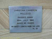 McLeod - Christina Cameron