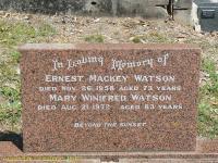 Watson - Ernest Mackey and Mary Winifred