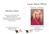 Wilson - Lynne Maree - Thank you card