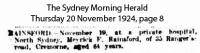 Rainsford - Meyrick F - Death Notice