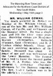 Cowan - William - Death Notice