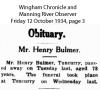 Bulmer - Henry - Obituary