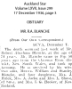 Blanche - Robert Arthur - Obituary