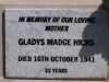 Hicks - Gladys Madge
