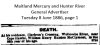 McClymont - William Henry Ralston - Death Notice.