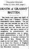Britten - Mary Ann - Death Notice