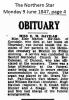 Havilah - Elsie Marion - Obituary No. 2