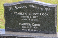 Cook - Elizabeth and Barker