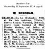 Graham - Robinson - Death Notice