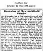 Walmsley - Mrs. Archibald - Death Notice