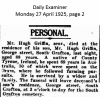 Griffin - Hugh - 1925 - Obituary
