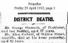 Corbett - Allen - Death Notice