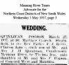 Quinlivan - Pogson - Clinton James and Thelma Iris - Marriage Notice