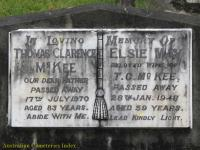 McKee - Thomas Clarence and Elsie May