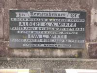 McKee - Albert G A and Eva L