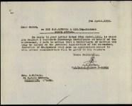 Lindore - James William - Army response