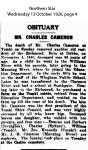 Cameron - Charles - Obituary