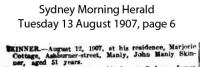 Skinner - John Manly - Death Notice
