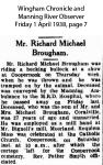 Brougham - Richard Michael - Obituary