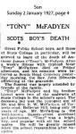 McFadyen - Anthony James - Obituary