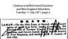 Laman - Catherine - Death Notice