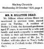 Sillitoe - R - Funeral Notice