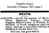 Giggins - John - Death Notice
