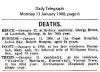 Foott - Mary Ann - Death Notice