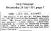 Arnott - William - Funeral Notice