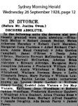 Waters - Ezekiel John and Ivy May - Divorce