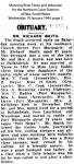 Smith - Richard - 1944 - Obituary