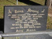 Foster - Athol March and Myrtle Jane
