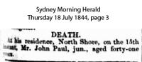 Paul - John - Death Notice