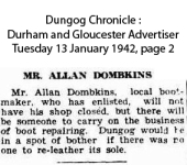 Dombkins - Allan - Shop and military Service