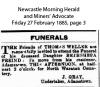 Weller - Bethshebe Freind - Funeral Notice