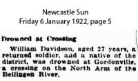 Davidson - William - Death Notice