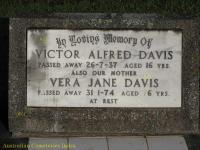Davis - Victor Alfred and Vera Jane